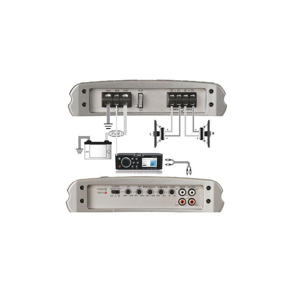 Fusion MS-AM402 2 Channel Marine Amplifier
