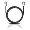 Oehlbach 125 - Easy Connect Steel - High Speed HDMI cable with ethernet 1 x HDMI to 1 x HDMI (1 pc / 2,50 m / black/silver/gold)