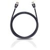 Oehlbach 128 - Easy Connect - High Speed HDMI cable with ethernet 1 x HDMI to 1 x HDMI (1 pc / 2,50 m / black/white/gold)