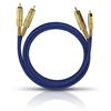 Oehlbach 2039 - NF 1 MASTER SET - Audio cable 2 x RCA to 2 x RCA  (1 pc / 10,0 m / blue/gold)