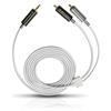 Oehlbach 90561 - MP3! - mobile audio cable 1x 3.5 mm jack plug to 2x RCA phono (1 pc / 1.0 m / white)