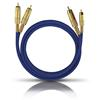 Oehlbach 2015 - NF 1 MASTER SET - Audio cable 2 x RCA to 2 x RCA  (1 piece / 0,5 meter / blue/gold)