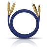 Oehlbach 2035 - NF 1 MASTER SET - Audio cable 2 x RCA to 2 x RCA  (1 piece / 2,0 meter / blue/gold)