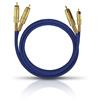 Oehlbach 2036 - NF 1 MASTER SET - Audio cable 2 x RCA to 2 x RCA  (1 piece / 3,0 meter / blue/gold)