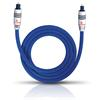 Oehlbach 1381 - XXL Series 80 - Optical digital cable 1 x Toslink to 1 x Toslink  (1 piece  / 1,0 meter / blue/silver)