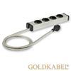 Goldkabel 822457 - POWERLINE MK II 4er power strip (1 piece / 1,5 m / black/silver)