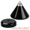 Goldkabel AS-40210 Cone & Disc Set of 4 Pieces - Goldkabel - cones with flat washers (each 4 pcs / black)