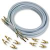 SUPRA Cables 1000100121 - Ply 3.4 CombiCon - Loudspeaker cable flexible (1 Set 2x3m / ice blue / tin-coated copper / 2x3,4 qmm)