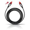 Oehlbach 6003 - Red Opto Star 100 - optical digital cable 1 x Toslink to 1 x Toslink (1.0 m / black/red)