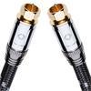 Oehlbach 22626 - XXL® Transmission Ultra 75 S - Digital High-End Satellite Cable 1 x F-Antenna plug to 1 x F-Antenna plug (1 Stk / 0,75 m / black)