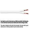 Sommer Cable SC440-0310 - SC-TRIBUN - Speaker cable (1 m / 2x4,0 qmm / 17,5 mm x 3,0 mm / white)