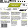Oehlbach 9233 - USB Max A/M 750 - Max A/Mini B USB-3.0-Cable, Type-A to Type-Mini  (1 pc / 7,5 m / dark gray)