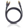 Oehlbach 23703 - BOOOM 300 - Subwoofer Y-RCA phono cable 1 x RCA to 2 x RCA  (3,0 m / anthracite)