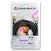 Oehlbach 21533 - NF Sub 300 - subwoofer cinch cable 1 x RCA to 1 x RCA  (3,0 m / black/gold)