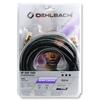 Oehlbach 21540 - NF Sub 1000 - subwoofer cinch cable 1 x RCA to 1 x RCA  (10,0 m / black/gold)