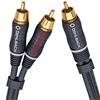 Oehlbach 23705 - BOOOM 500 - Subwoofer Y-RCA phono cable 1 x RCA to 2 x RCA  (5,0 m / anthracite)