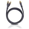 Oehlbach 23710 - BOOOM 1000 - Subwoofer Y-RCA phono cable 1 x RCA to 2 x RCA  (10,0 m / anthracite)