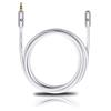 Oehlbach 60035 - i-Connect J-35 EX - Mobile audio extension cable 1 x 3.5 mm jack plug to 1 x 3.5 mm jack socket  (5,0 m / white/gold)
