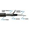 Sommer Cable 300-0071 - SC-SPIRIT XXL  - Guitar Cable high-end (10 m / 1 x 0,75 qmm / 6,8 mm /  black transparent  )