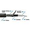 Sommer Cable 300-0071 - SC-SPIRIT XXL  - Guitar Cable high-end (50 m / 1 x 0,75 qmm / 6,8 mm /  black transparent  )