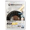 Oehlbach 11426 - XXL® Carb Connect - High-Speed-HDMI® Cable with Ethernet 1 x HDMI auf 1 x HDMI (7,50 m / black/silver/gold)