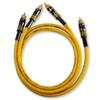 Sommer Cable - HICON EP3F-0150 - EPILOGUE Series - LF-phono cable 2 x RCA to 2 x RCA (2 pieces / 1,5 m / black chrome/yellow)