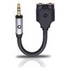 Oehlbach 35018 - i-Jack A-D- 35/235 - mobile Y-adapter (3.5 mm audio plug to 2 x 3.5 mm audio jack / 0.1 m / black)