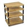 Atacama APOLLO - STORM 6 - high-quality hifi rack - 4 levels (total of 4 shelves made from light solid oak / silk black modules / completely decoupled / incl. spikes)