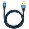 Oehlbach 9321 - USB Plus LI 50 - USB 2.0 cable for mobile entertainment (1 x USB-A to 1 x Lightning connector / 0.5 m / blue/black)