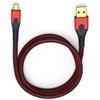Oehlbach 9411 - USB Evolution Micro 100 - USB 2.0 cable for mobile entertainment (1 x USB-A to 1 x USB-Micro B / 1.0 m / red/black)