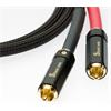 Silent Wire NF5 - RCA audio cable (RCA-RCA / 0.8 m / black/red)