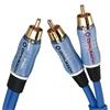 Oehlbach 22705 - BOOOM! - subwoofer Y RCA cable 1 x RCA to 2 x RCA (5.0 m / blue/gold)