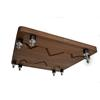 Atacama MONOPLINTH ECO 60/65 SE - hi-fi rack monoblock base levels in dark bamboo solid wood (dark bamboo / 1 pair)