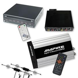 Ampire/Dietz DVB-T-Tuner DVBT52 & DVD-Player 85700 + Interface for BMW Navigation Professional (CiC) without OEM TV tuner port