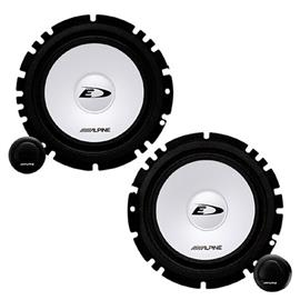 "ALPINE SXE-1750S -  Component 2-Way Speaker for ALFA / FORD / OPEL / SEAT / VW ... (6-1/2"" / 16.5cm DIN)"
