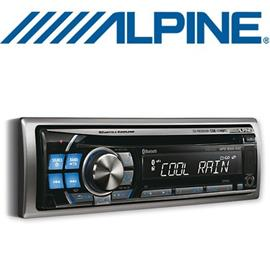 ALPINE CDE-114BTi - MP3/WMA/AAC CD RECEIVER (silver/blue)