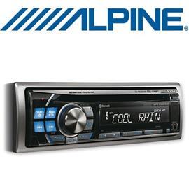 ALPINE CDE-114BTi - MP3/WMA/AAC CD RECEIVER (silver/blue)