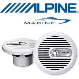 ALPINE SPS-M601w - 16,5 cm 2-Way Marine Coaxial Speaker (white)