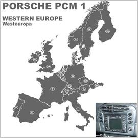 Navteq Europa - Porsche PCM1 Navigation (16 Bit) (9 CD) 2010/2011