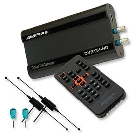 Ampire DVBT55-HD - DVB-T HD Receiver with (MPEG2 / MPEG4 / HDMI / 1 AV / USB) incl. 2 DVBT antenna