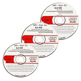 Audi MMI High Update pack / Operating Software (3 CDs) for MMI(2G) in A6 / S6 / RS6 (4F) / A8 / S8 (4E) / Q7 (4L)