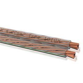 Oehlbach 1010 - Speaker Wire 40 - Loudspeaker cable flexible  (1m / transparent / copper / 2x4,0 qmm)