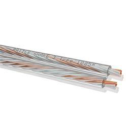Oehlbach 1085 - Rattle Snake 3 M - Loudspeaker cable flexible  (1m / transparent / versilbert/Kupfer / 2x3,0 qmm)
