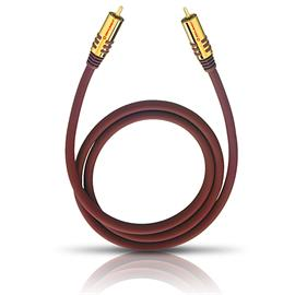 Oehlbach 20531 - NF SUB 100 - subwoofer cinch cable (1 x RCA to 1 x RCA / 1.0 m / red/gold)