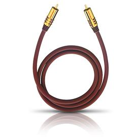 Oehlbach 20533 - NF SUB 300 - subwoofer cinch cable (1 x RCA to 1 x RCA / 3.0 m / red/gold)