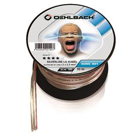 Oehlbach 185 - Silverline SP-25 - loudspeaker flexible cable mini-coil (10 m / clear / silver-plated / 2 x 2.5 qmm)