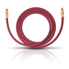Oehlbach 2054 - NF 214 Sub - Subwoofer cinch cable 1 x RCA to 1 x RCA (2,0 m / bordeaux red/gold / 1 piece)