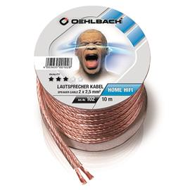 Oehlbach 102 - Speaker Wire SP-25 1000 - Loudspeaker cable flexible Mini-coil (10m / transparent / copper / 2 x 2,5qmm)