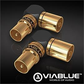 ViaBlue 40815 - XS - Antenna Adapter 90° (2 pcs / black/gold)