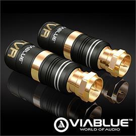 ViaBlue 30935 - TVR F plug (2 pcs / gold plated)